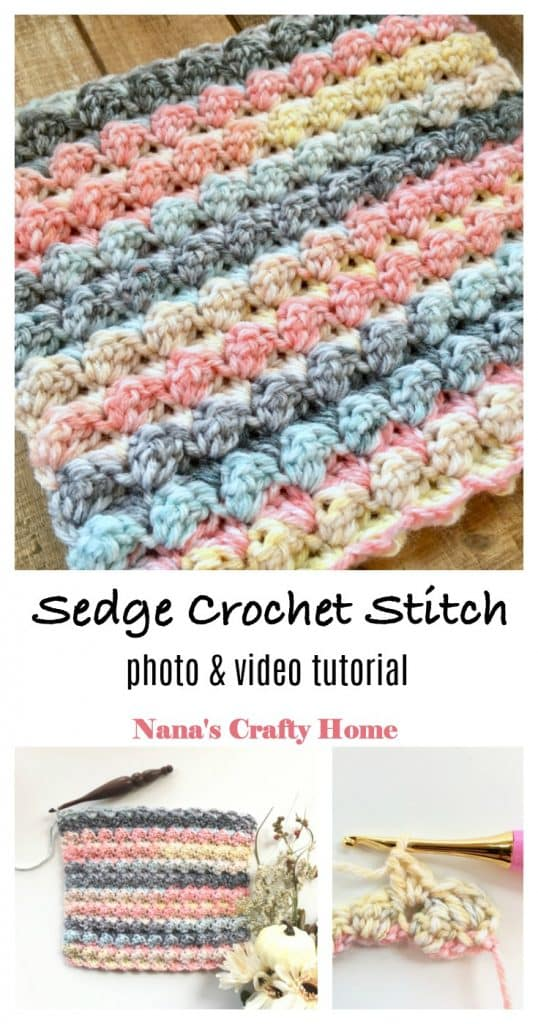 Learn how to crochet the Sedge Stitch