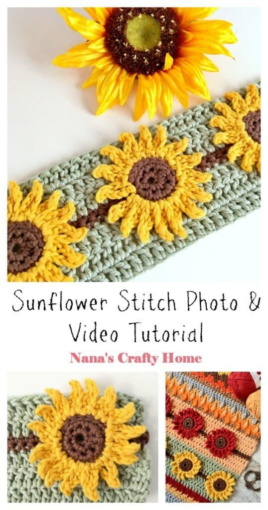 Sunflower Crochet Stitch Tutorial