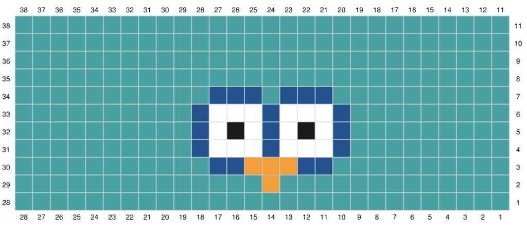 Owl C2C Sack Hat graph 2