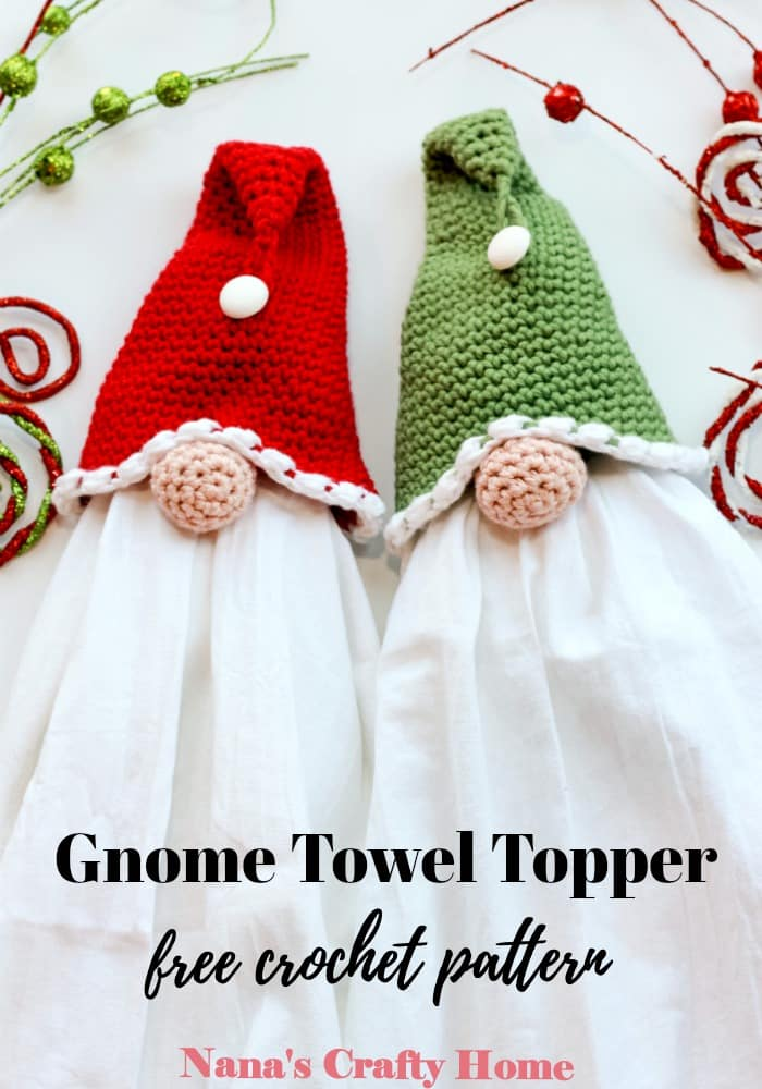 Gnome Towel Topper Free Crochet pattern