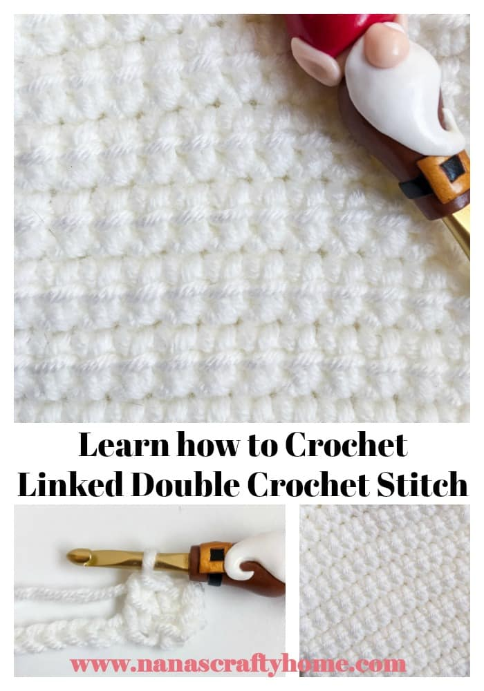 Linked Double Crochet Stitch Video Tutorial