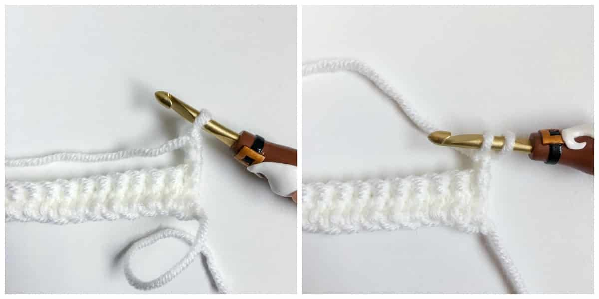 Linked Double Crochet Process 8