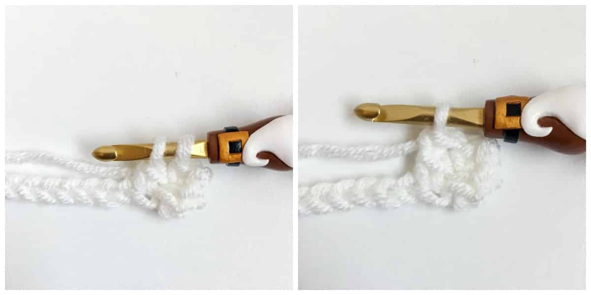 Linked Double Crochet Process 7