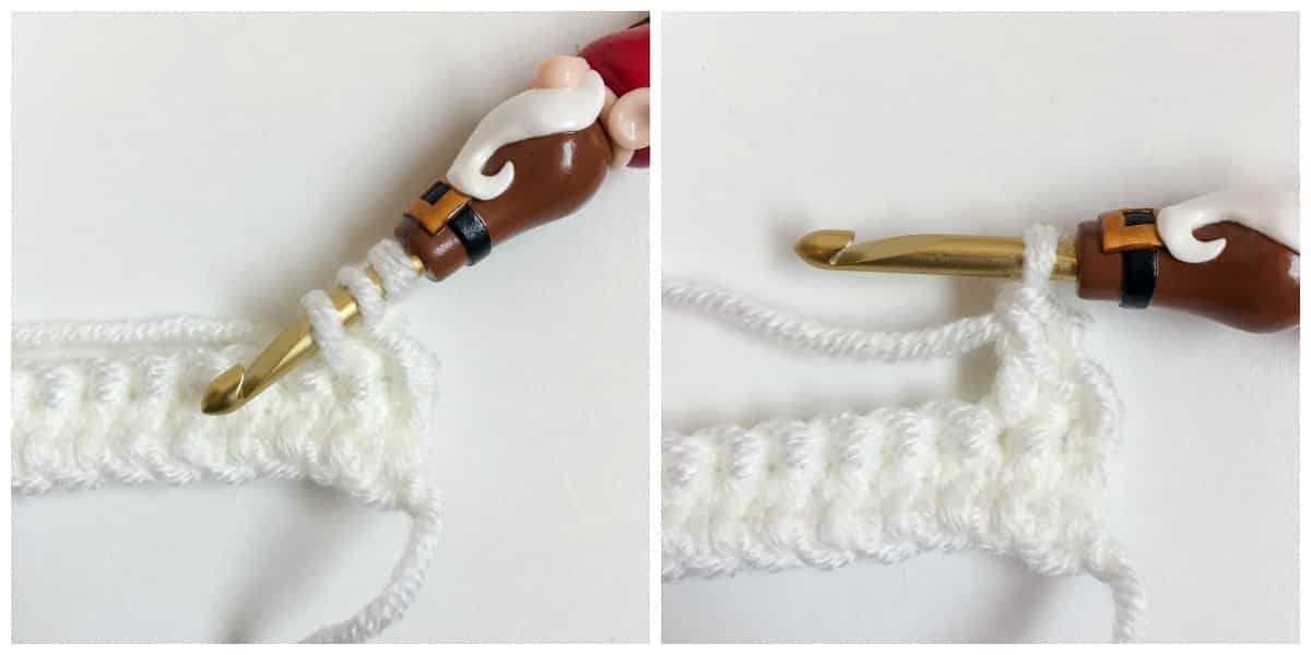 Linked Double Crochet Process 9