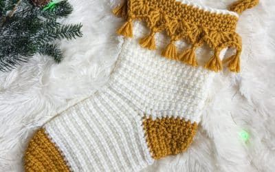 Luxe Boho Christmas Crochet Stocking Complete Video Tutorial