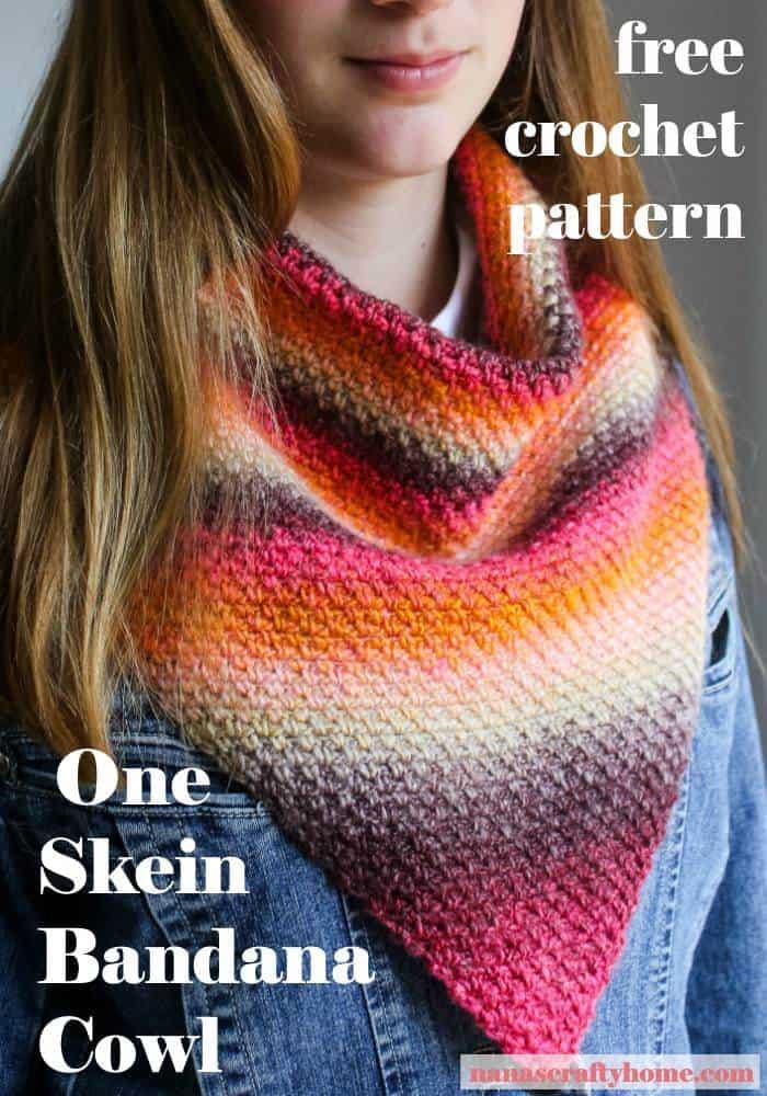 Linen Stitch Bandana Cowl free crochet pattern