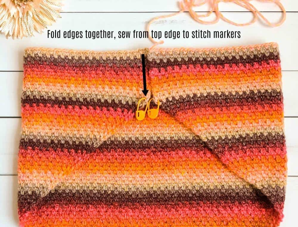 Mesa Sunset Cowl how to sew together