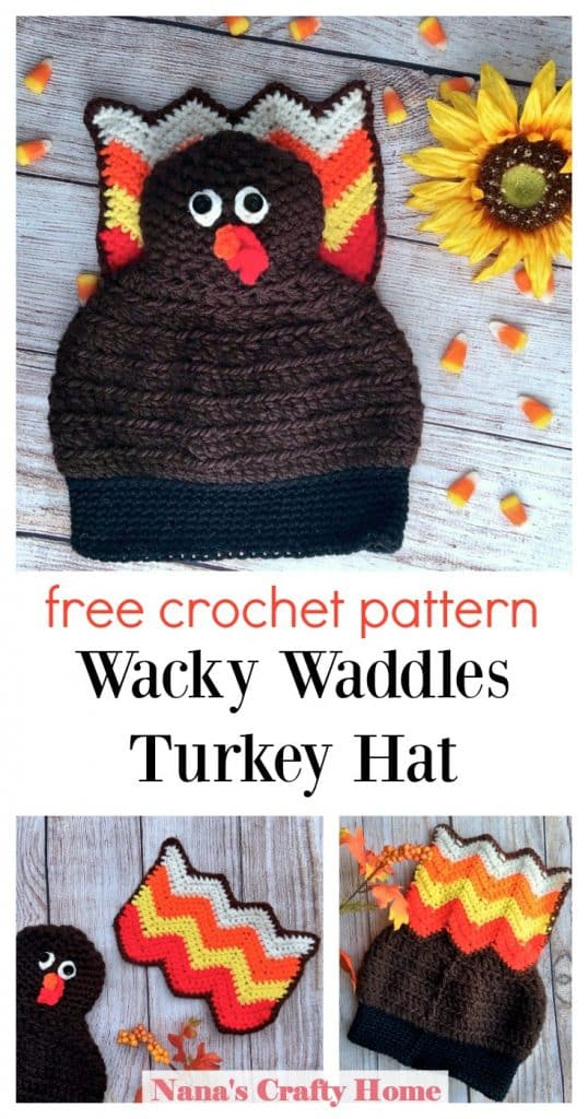Turkey Crochet hat free pattern