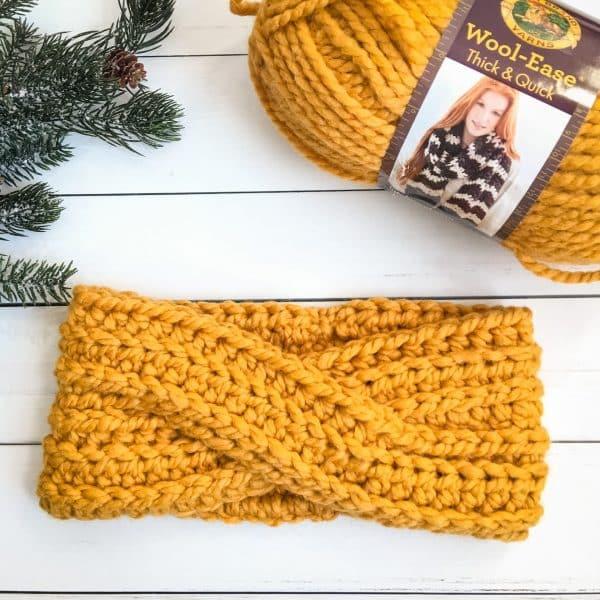 Highland Twist Headband free crochet pattern