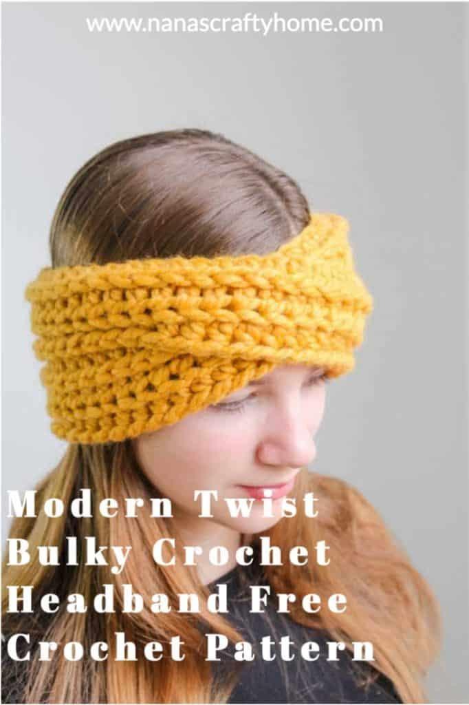 Highland Twist Headband free crochet pattern process 4 process 4 process 4 process 5