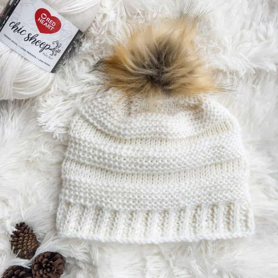 Crochet Tunisian Hat for Charity