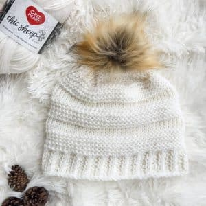 Crochet Tunisian Hat for Charity