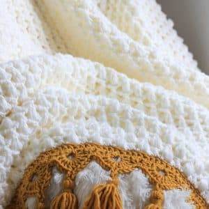 Ties That Bind Puff Stitch Blanket free crochet pattern