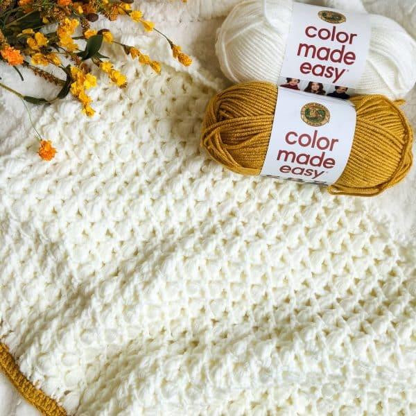 Ties That Bind Puff Stitch Blanket free crochet pattern