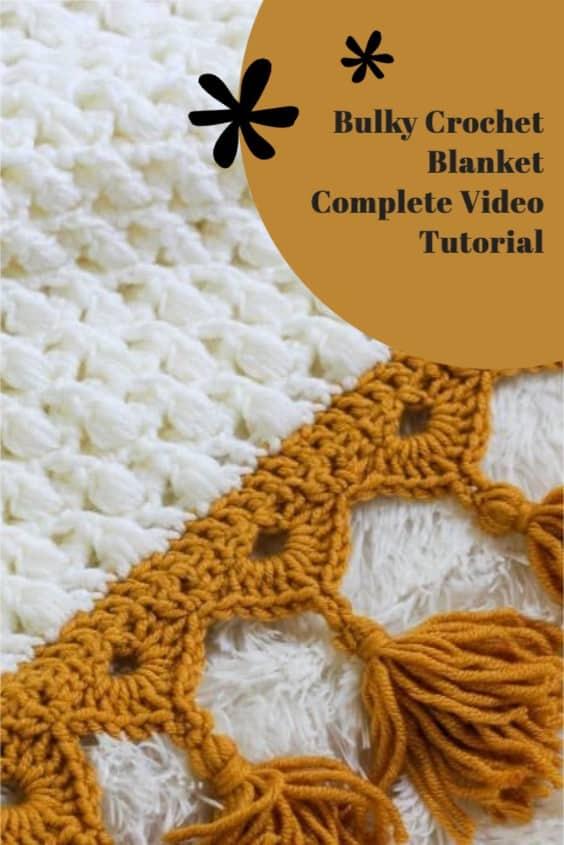 Ties that Bind crochet bulky blanket video tutorial