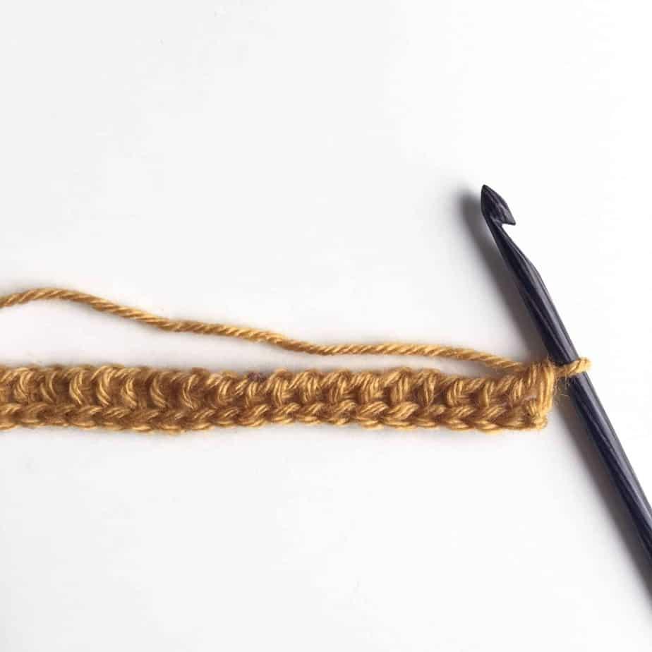 Tunisian Crochet Knit Stitch Process 4
