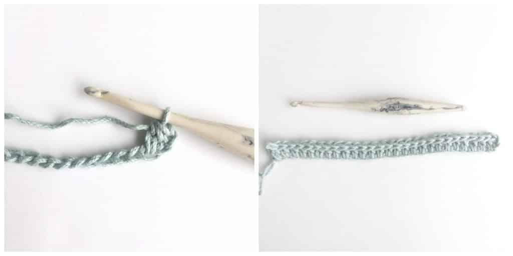 Crocheting 2x2 Ribbing Stitch Tutorial Process 2