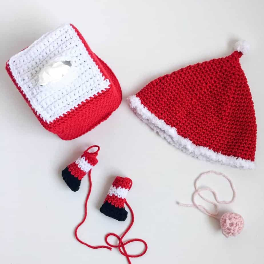 Gnome Tissue Box Cover free crochet pattern