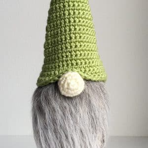 Gnome Wine Bottle Topper free crochet pattern