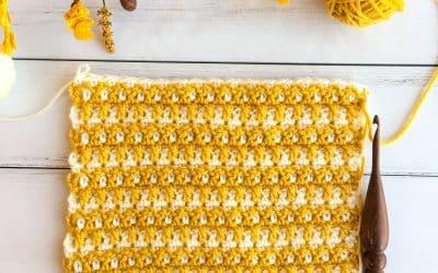 Interlocking Arched Columns Woven Crochet Stitch Tutorial