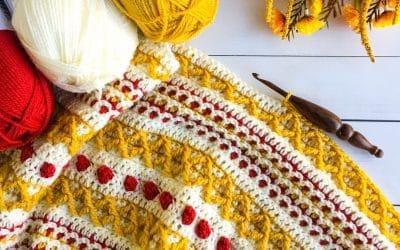 Marjorie Pocket Shawl free crochet pattern Part 1