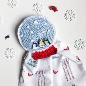 Snow Globe Towel Topper Free Crochet Pattern