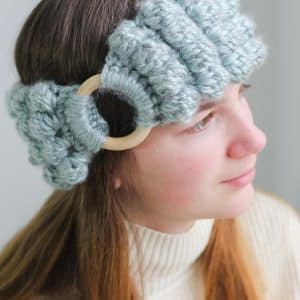 Crochet bobble headband free pattern