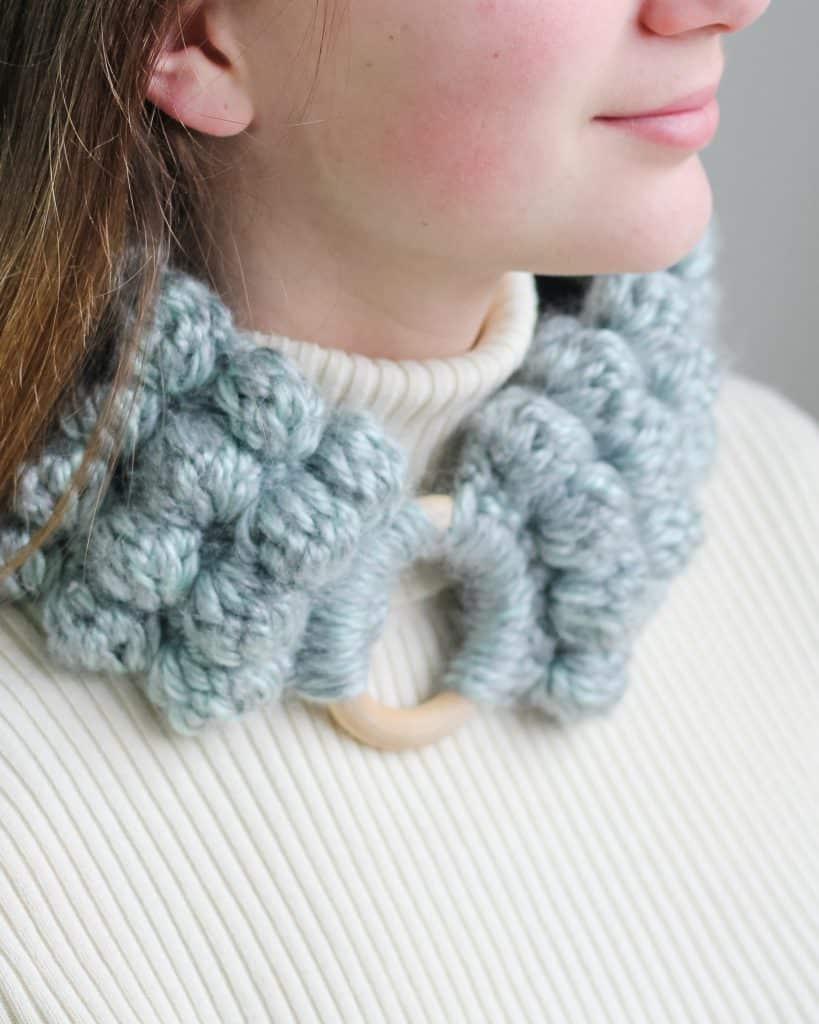 Crochet bobble headband free pattern