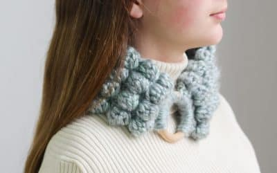 Crochet Bobble Headband or Cowl  Tutorial