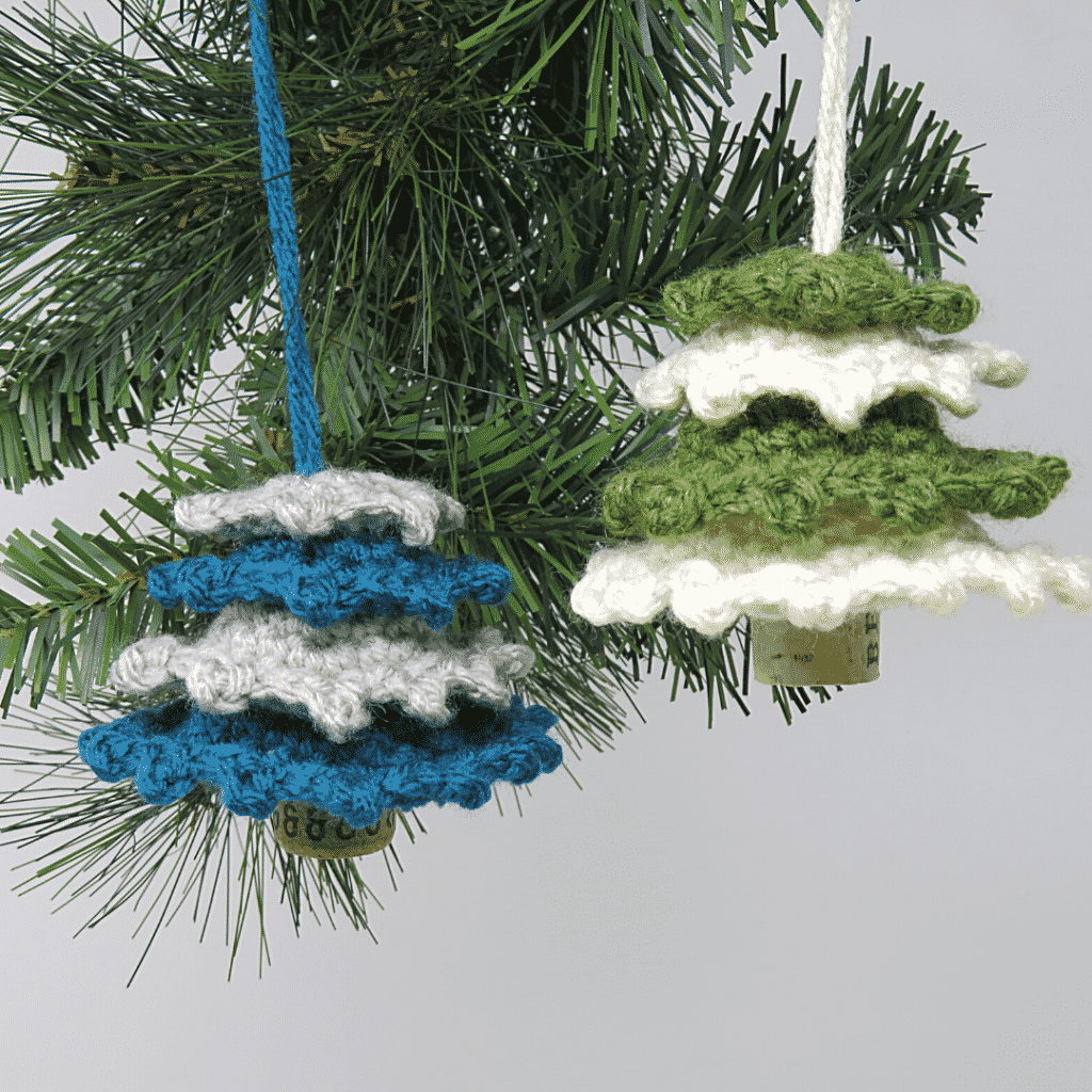 Frilly Christmas Tree Ornament by Hooked by Kati