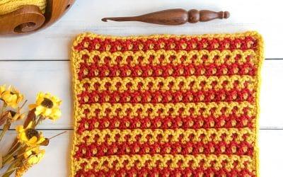 Woven Crochet Stitch Video Tutorial Interlocking Arches Stitch