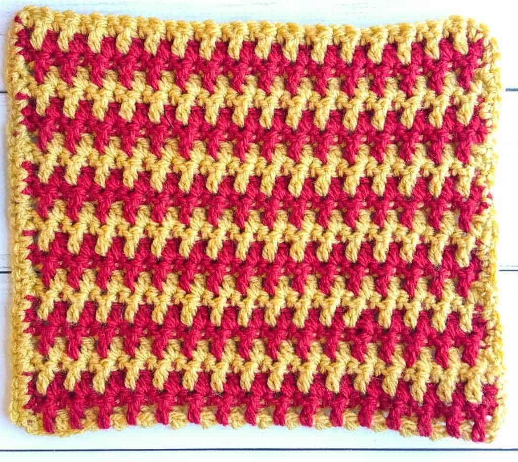 Interlocking Arches Crochet Stitch tutorial