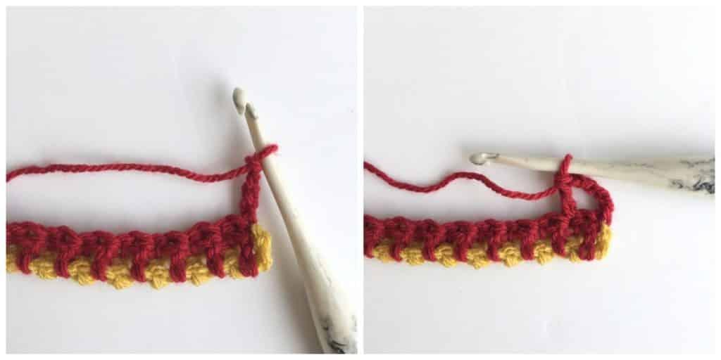 Interlocking Arches Crochet Stitch Process 4