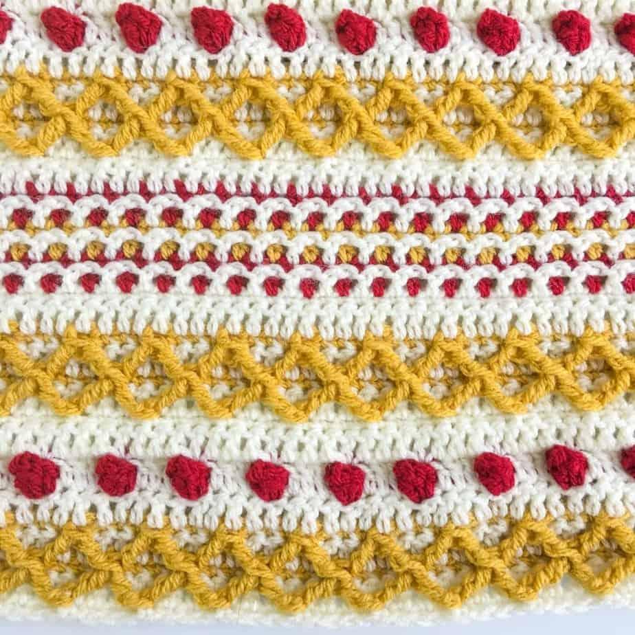 Marjorie Pocket Shawl Part 1 free crochet pattern