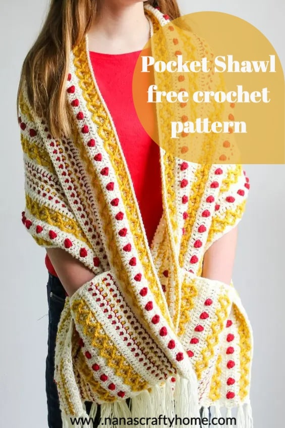 Marjorie Pocket Shawl part 2 free crochet pattern