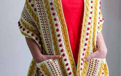 Marjorie Pocket Shawl Part 3 Free crochet pattern