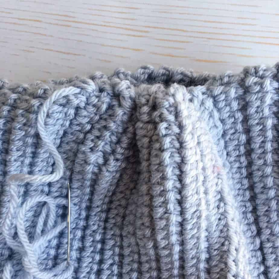 How to sew top of crochet hat closed tutorial