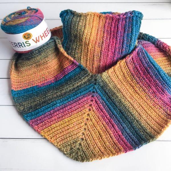 Uptown Brioche Infinity Scarf crochet pattern