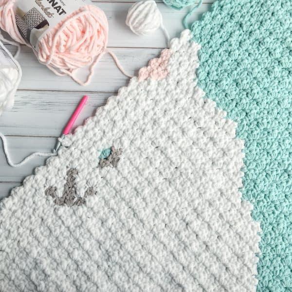 Bunny C2C Throw Graphgan Free crochet Pattern