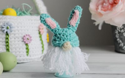 Gnome Bunny Egg Cozy Free Crochet Pattern