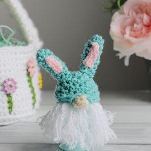 Bunny Gnome Egg Cozy free crochet pattern