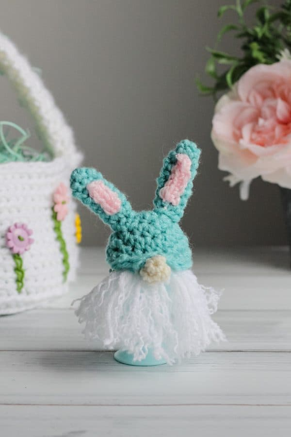 Bunny Gnome Egg Cozy free crochet pattern