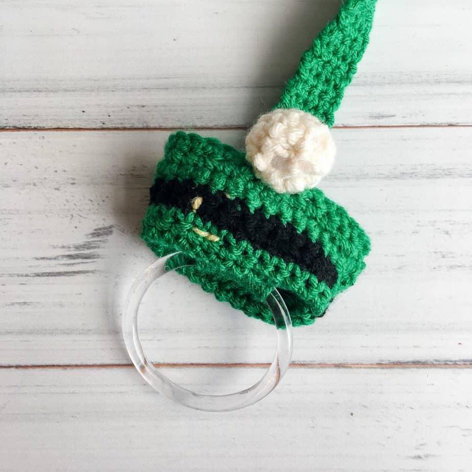 Leprechaun Gnome Towel Topper free crochet pattern