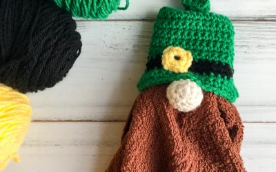 Leprechaun Gnome Towel Topper free crochet pattern