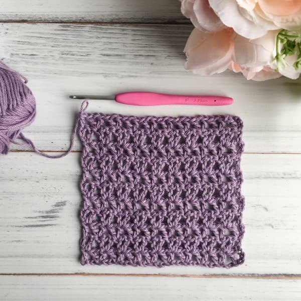 Learn how to crochet the Offset V-Stitch Photo & Video Tutorial