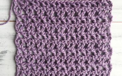 Offset V-Stitch Crochet Stitch Tutorial