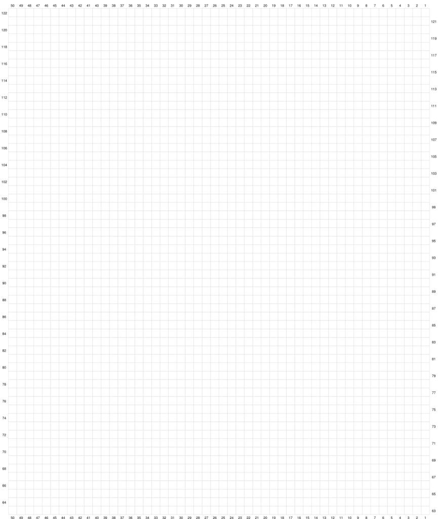 Gingham Bunny Table Runner Free Crochet Pattern Graph Part 2