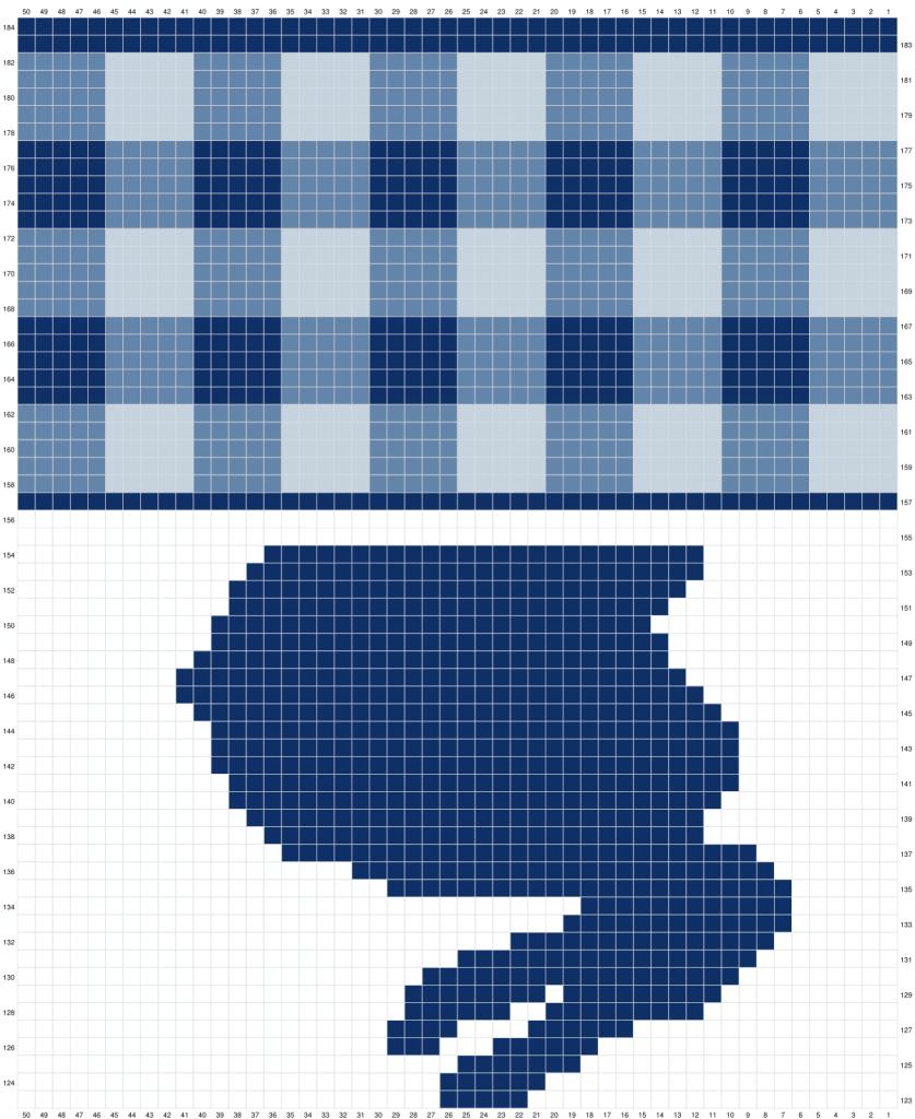 Gingham Bunny Table Runner Free Crochet Pattern Graph Part 3