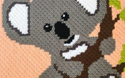 Crochet Koala C2C Blanket free crochet pattern