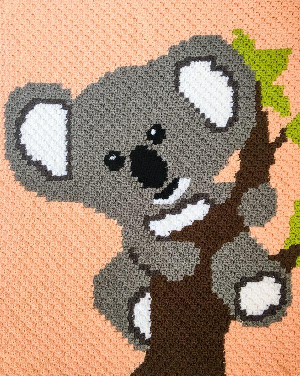 Crochet Koala Bear C2C Graphgan